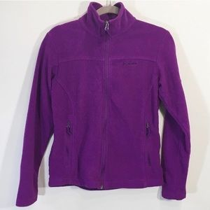 Columbia Fleece ZipUp Sweater Hoodie Medium Purple
